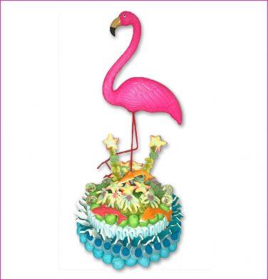 Snoeptaart Flamingo
