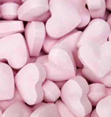 Dextrose hartjes roze