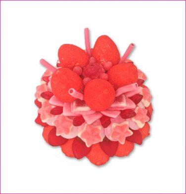 Rood roze snoeptaart Bo