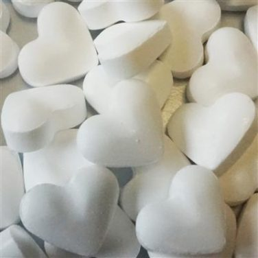 Dextrose hartjes wit