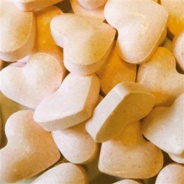 Dextrose hartjes oranje