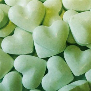 Dextrose hartjes groen