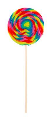 Spiraallolly regenboog mega