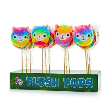 Pluche lollypop Alpaca