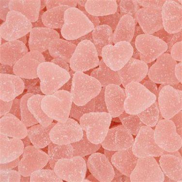 Joris gesuikerde harten roze aardbei